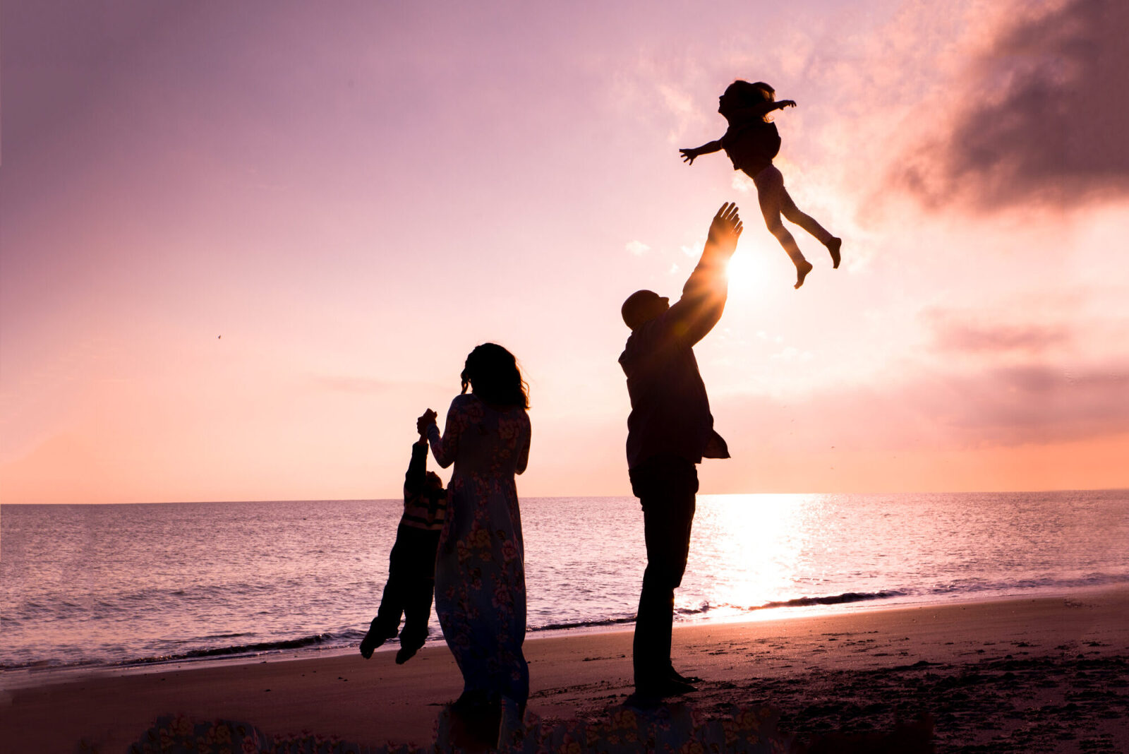 family silhouette photo