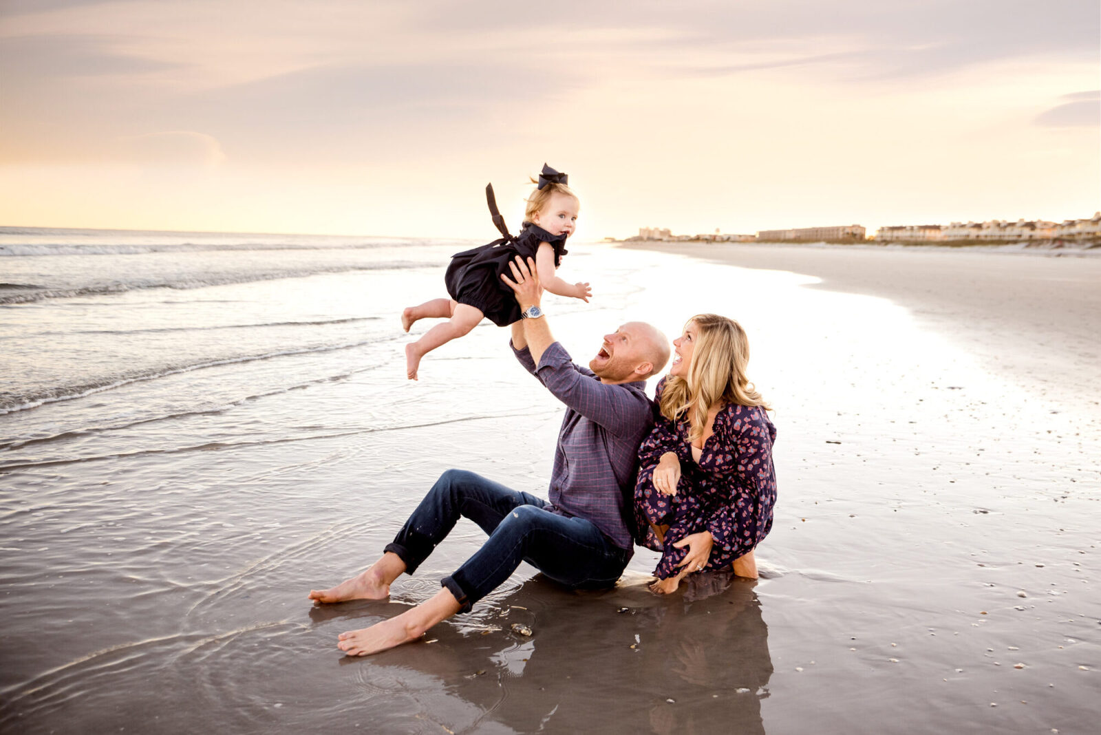 family session at Wrightsville Beach