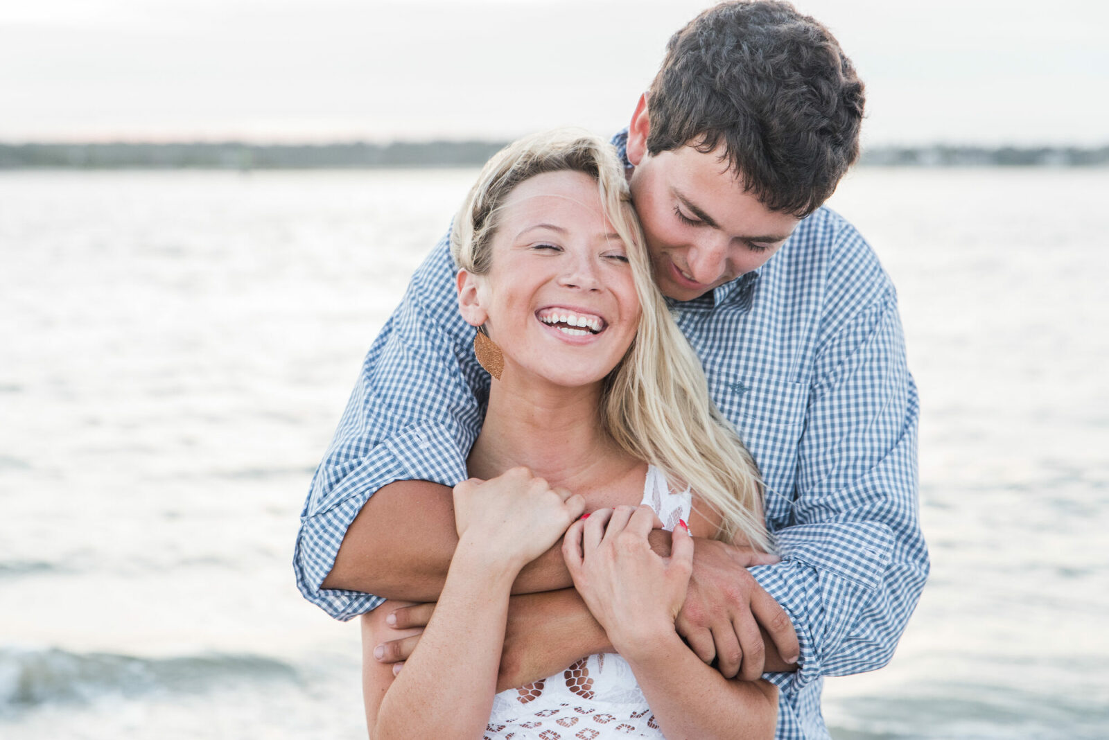 engagement beach session at Wrightsville Beach, NC