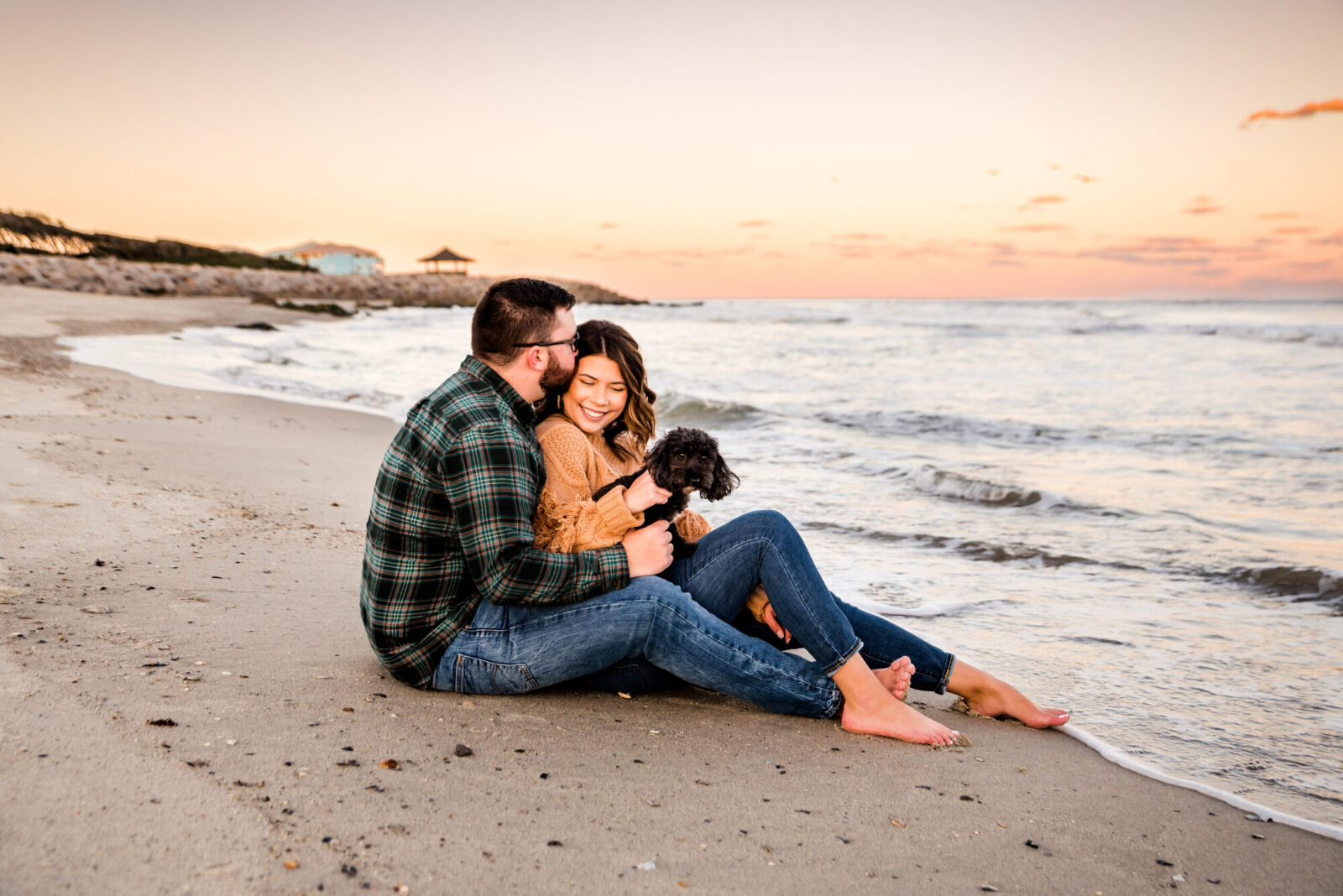 engagement session at Carolina Beach