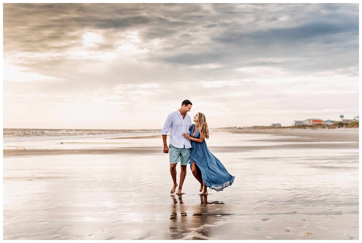 engagement session at beach